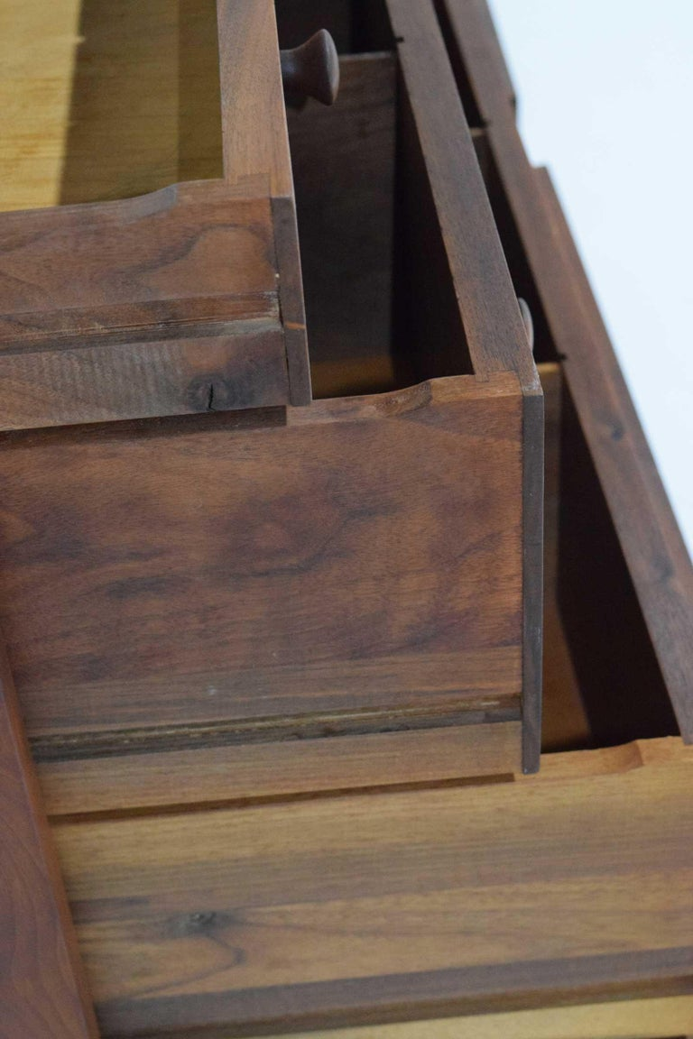 George Nakashima Pair of Chests in Black Walnut For Sale 3