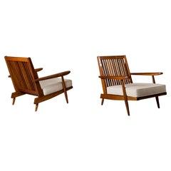 "George Nakashima, Pair of ""Cushion"" Chairs, 1960s"