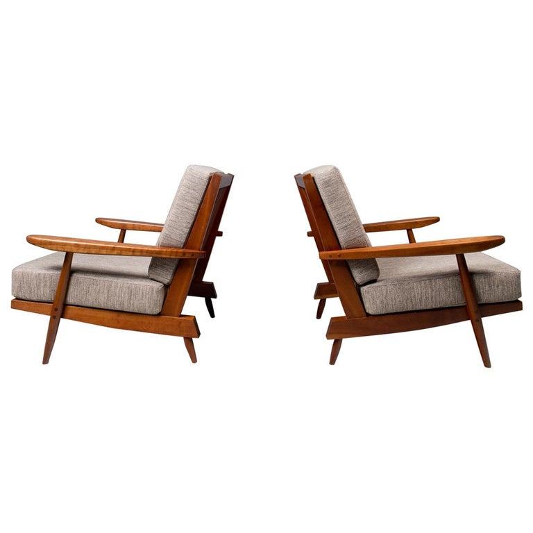 "George Nakashima, Pair of ""Cushion"" Chairs, 1972"