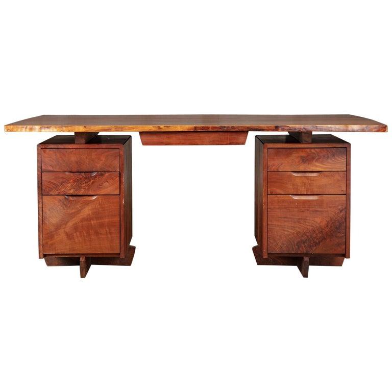 George Nakashima pedestal desk, 1975, offered by JF Chen
