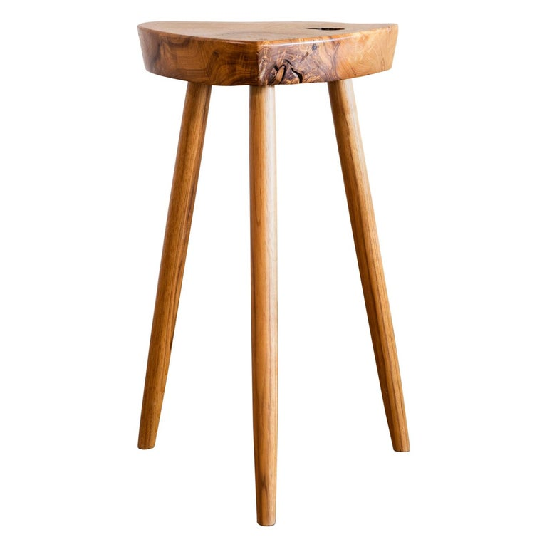 George Nakashima Rare Early Side Table in Ash, New Hope, 1950s For Sale