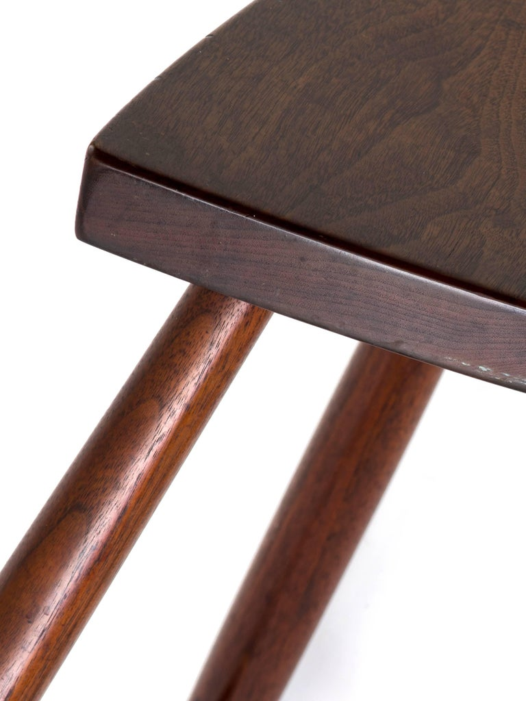 George Nakashima Rare Stool In Walnut 1960s For Sale At