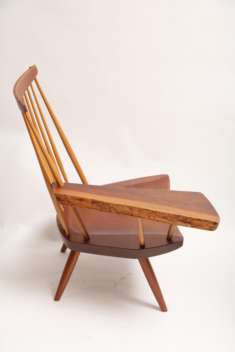 American George Nakashima Slab-Arm Lounge Chair For Sale