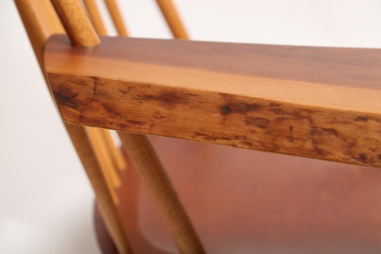 George Nakashima Slab-Arm Lounge Chair In Good Condition For Sale In West Palm Beach, FL