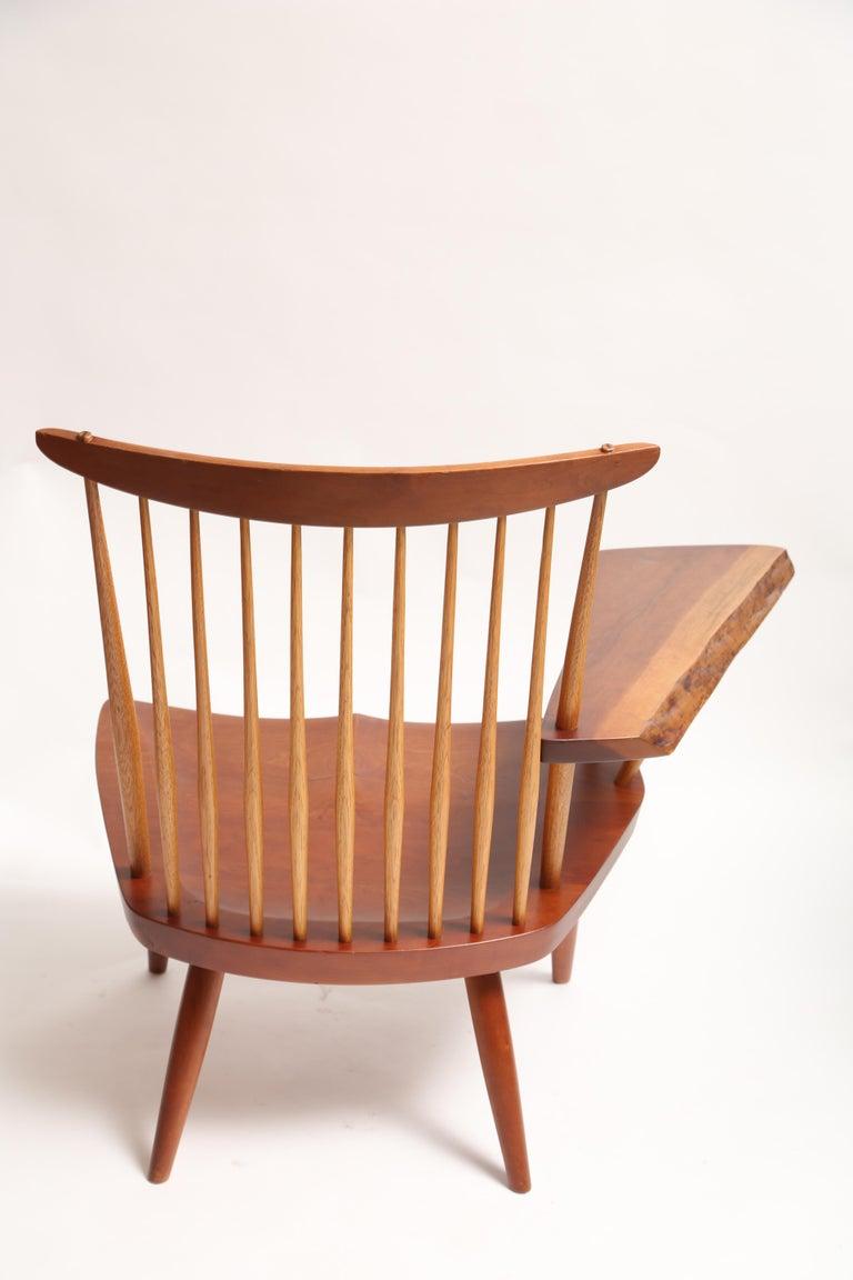 Walnut George Nakashima Slab-Arm Lounge Chair For Sale