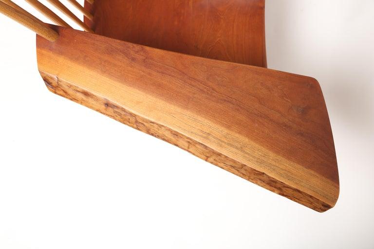 George Nakashima Slab-Arm Lounge Chair For Sale 3