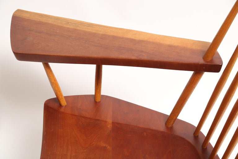 George Nakashima Slab-Arm Lounge Chair For Sale 1