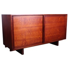 George Nakashima Sliding Door Cabinet in Cherry, 1963