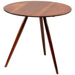 George Nakashima Splayed Leg Round Side Table