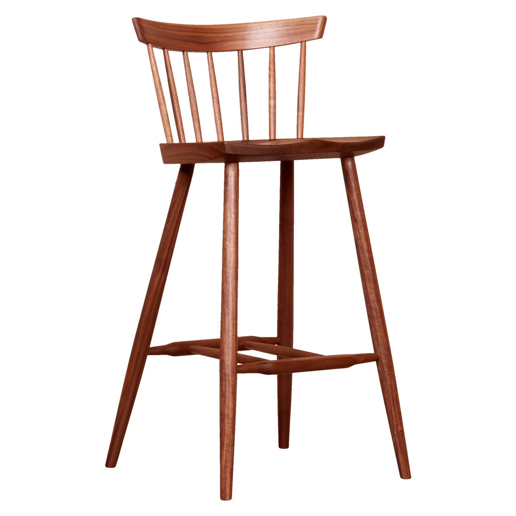 Set of four George Nakashima Studio, 4 Legged High Chairs, US, 2021