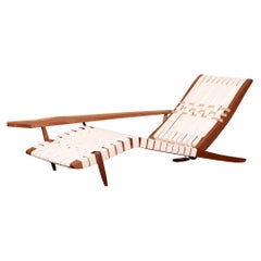 George Nakashima Studio Chaise Lounge Long Chair in Walnut, US, 2021