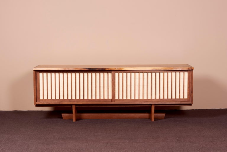 George Nakashima Studio Credenza in walnut, US 2021 The credenza is made in black walnut and signed.
