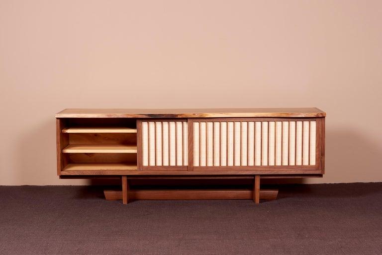 Mid-Century Modern George Nakashima Studio Credenza in Walnut, US 2021 For Sale