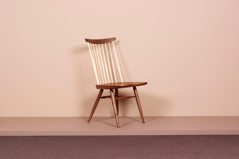 Mid-Century Modern Geoge Nakashima Studio, New Chair, USA 2021 For Sale