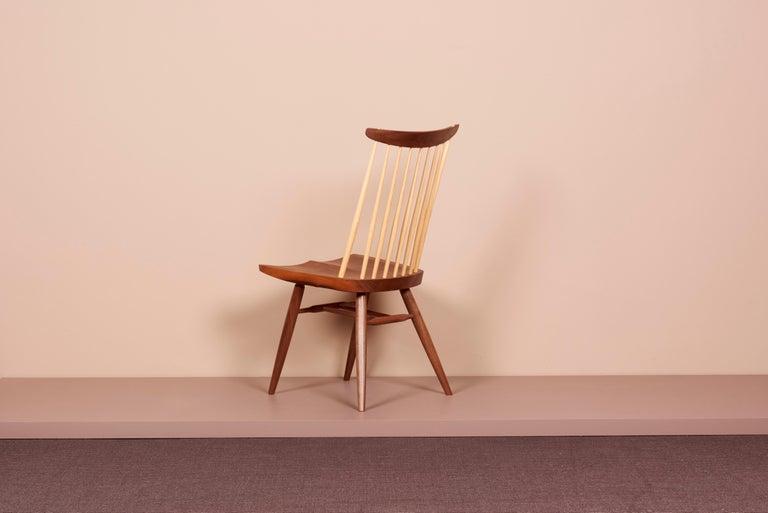 Walnut Geoge Nakashima Studio, New Chair, USA 2021 For Sale