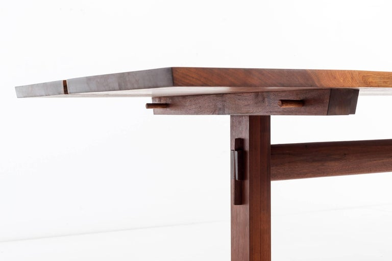 American Craftsman George Nakashima Trestle Table For Sale