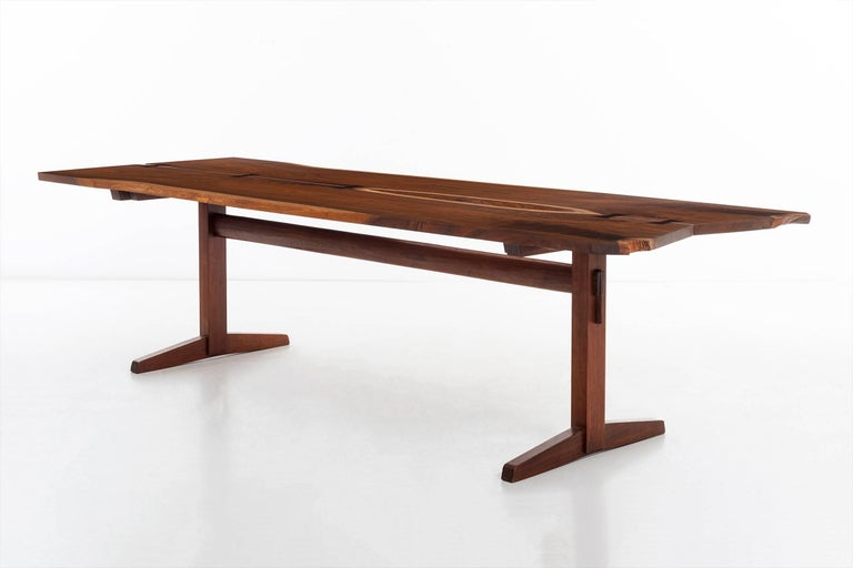 Mid-20th Century George Nakashima Trestle Table For Sale