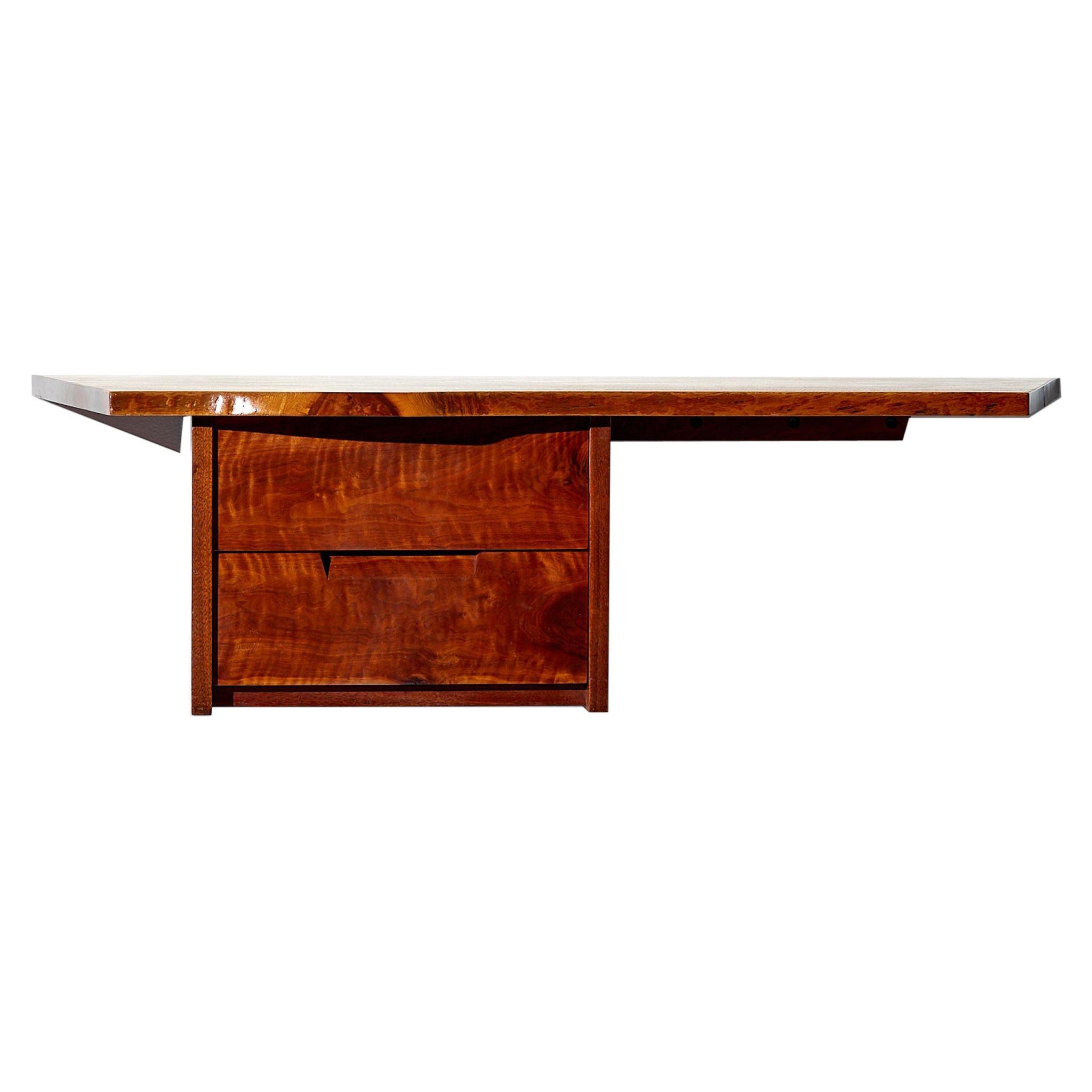 George Nakashima Wall-Mounted Desk