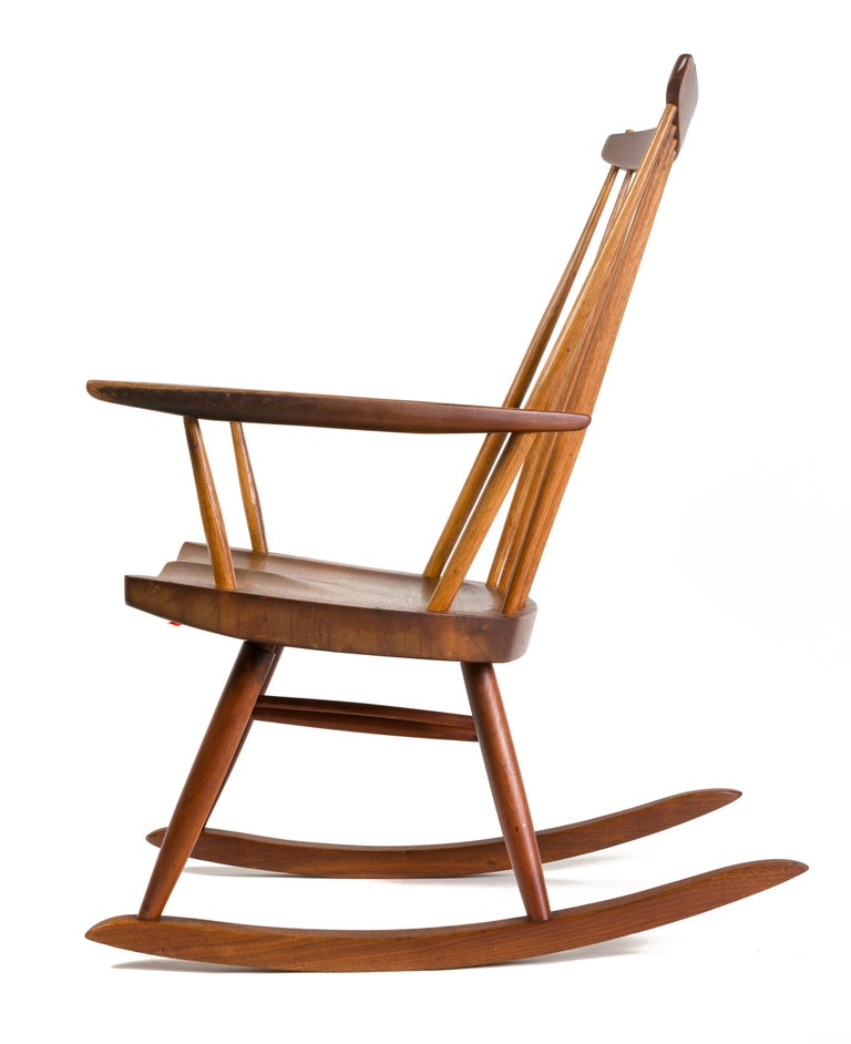 "New Used Pilates Chair For Sale: George Nakashima Walnut And Poplar ""New Chair"" Rocker, USA"