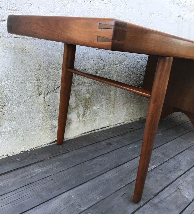 "Mid-20th Century George Nakashima Walnut Coffee Table, Two Side Drawers, ""Origins Series"