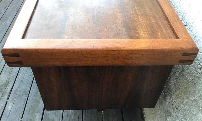 "George Nakashima Walnut Coffee Table, Two Side Drawers, ""Origins Series"