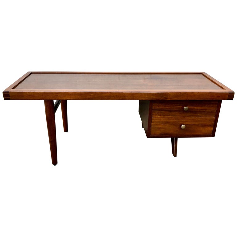 """George Nakashima Walnut Coffee Table, Two Side Drawers, """"Origins Series"""", 1960's For Sale"""