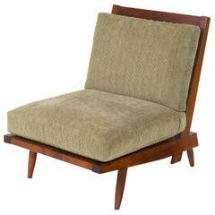 """George Nakashima Walnut """"Cushion Chair"""", USA 1960s"""