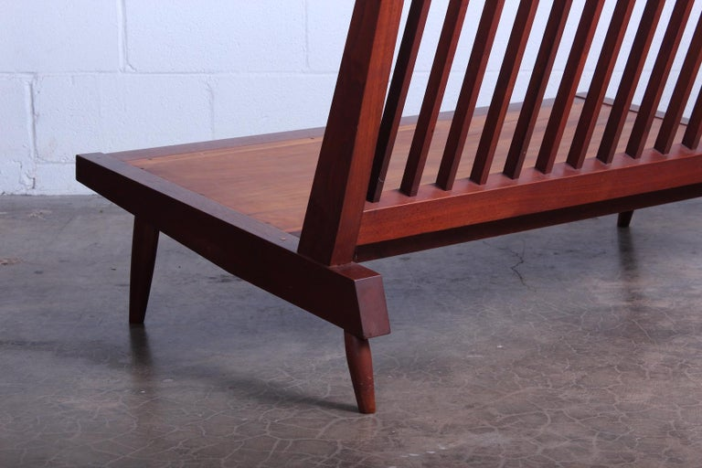 George Nakashima Walnut Settee, 1961  For Sale 6