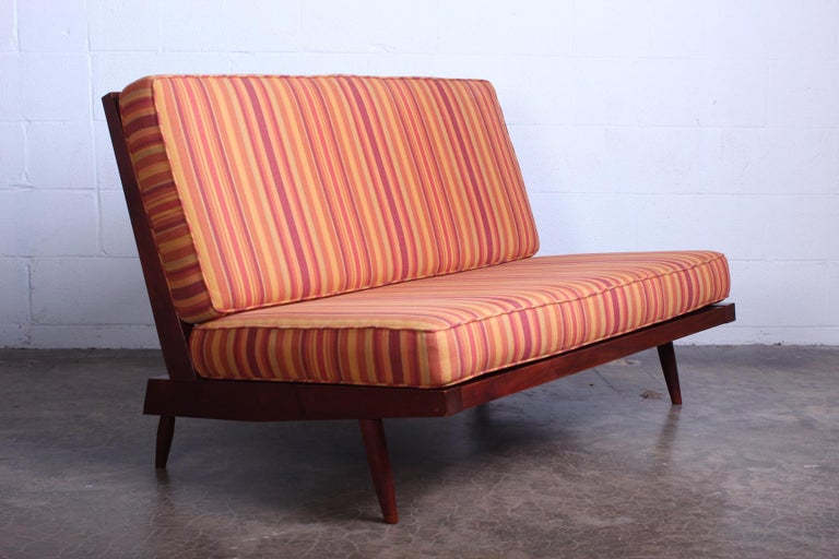 George Nakashima Walnut Settee, 1961  In Good Condition For Sale In Dallas, TX