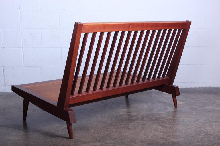 George Nakashima Walnut Settee, 1961  For Sale 5