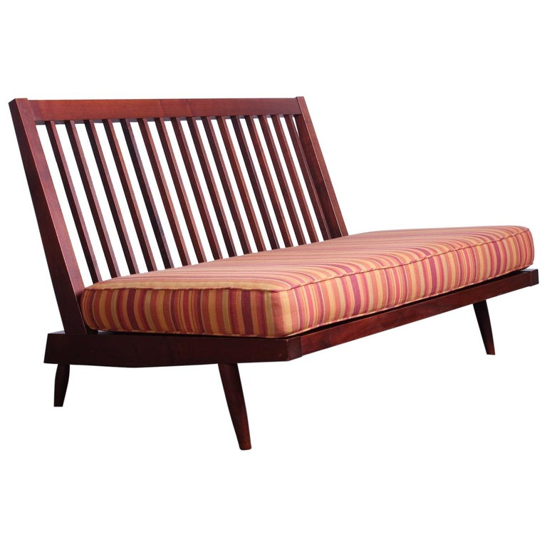 George Nakashima Walnut Settee, 1961  For Sale