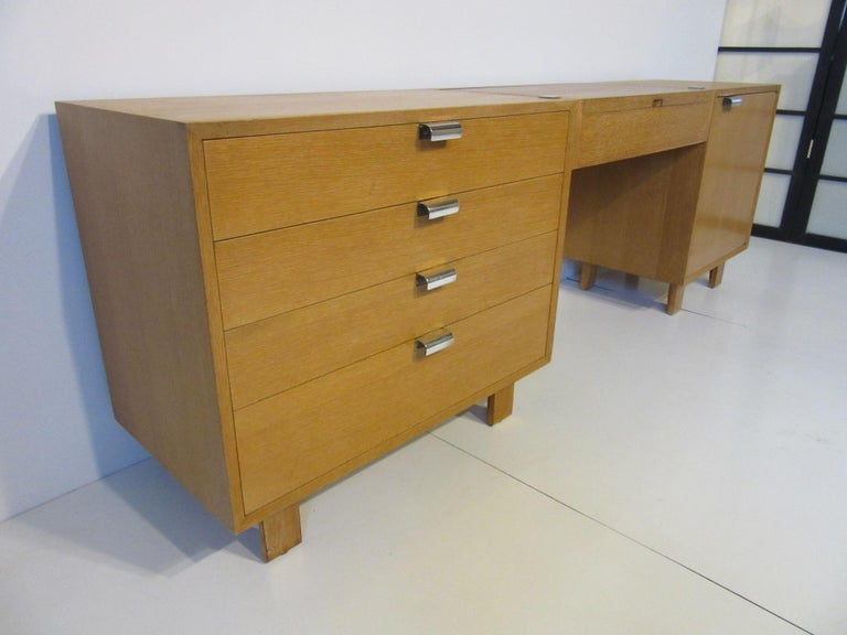 Mid-Century Modern George Nelson 3-Piece Vanity Chest for Herman Miller For Sale