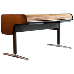 George Nelson Action Oak Tambour Roll Top Desk for Herman Miller, circa 1964
