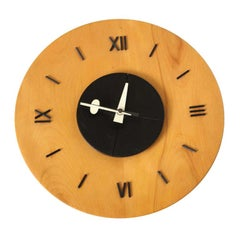 George Nelson and Associates Wooden Dish Clock