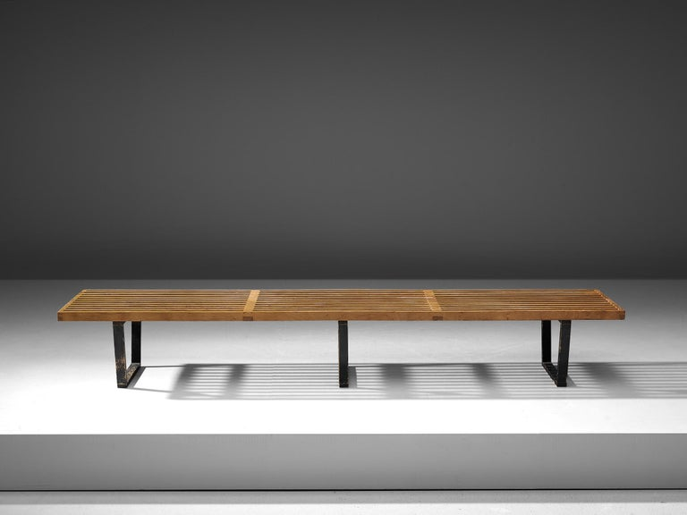 Mid-Century Modern George Nelson & Associates Large '4492' Bench in Birch For Sale