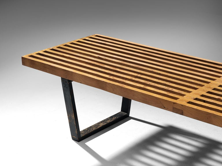 Mid-20th Century George Nelson & Associates Large '4492' Bench in Birch For Sale