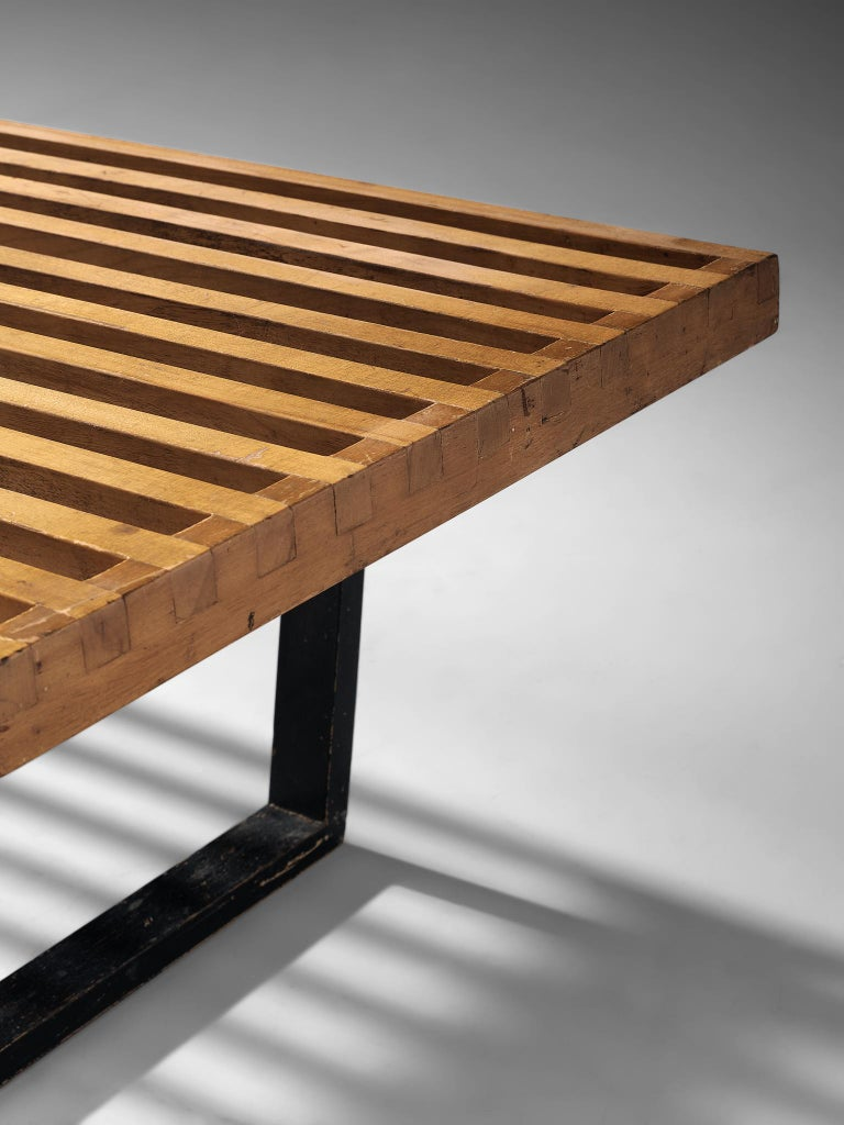 George Nelson & Associates Large '4492' Bench in Birch For Sale 2