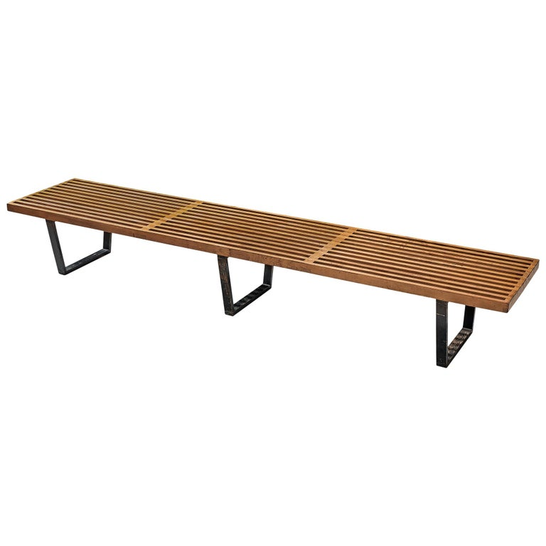 George Nelson & Associates Large '4492' Bench in Birch For Sale