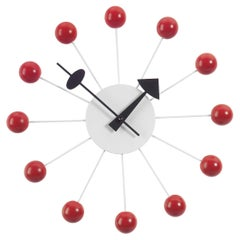 George Nelson Ball Clock, Wood and Metal by Vitra
