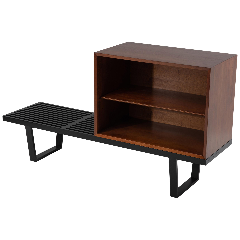 George Nelson Basic Series Cabinet on Ebonized Herman Miller Bench