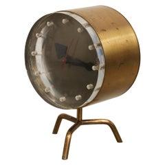 George Nelson Brass Clock for Howard Miller