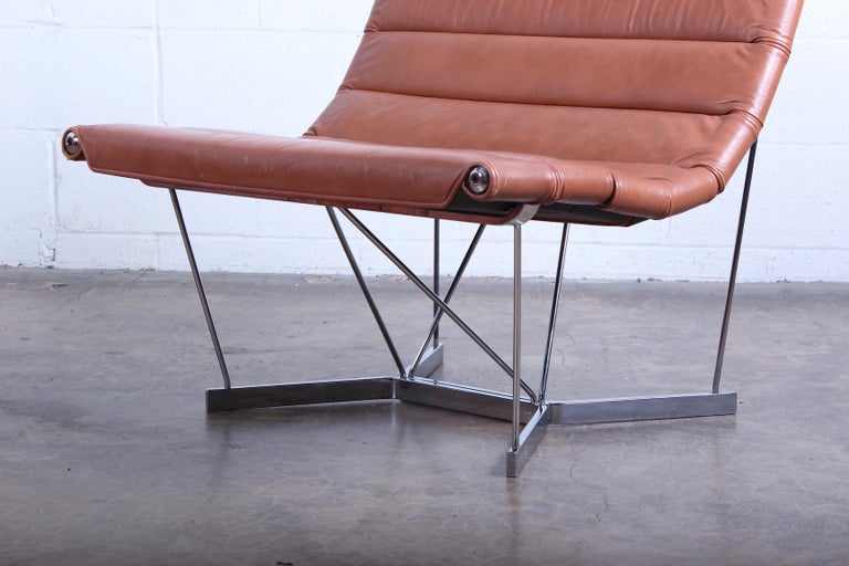 A rare Catenary chair in original leather designed by George Nelson for Herman Miller.