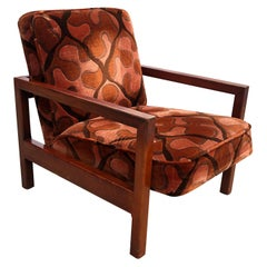 George Nelson Cube Group Lounge Chair Larson Fabric Original Red Birch 4774 M