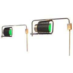George Nelson & Daniel Lewis Wall Lamps Model 'Eyeshade'