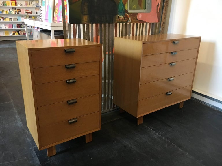George Nelson Dresser Pair for Herman Miller, 1948 In Excellent Condition For Sale In Brooklyn, NY