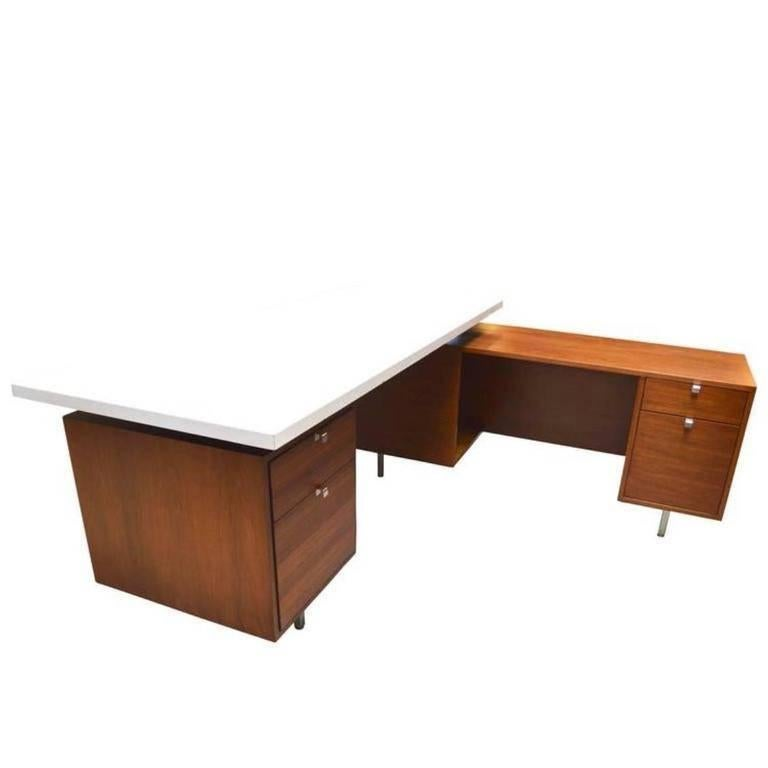 "George Nelson ""Dry Erase"" Desk with Return"