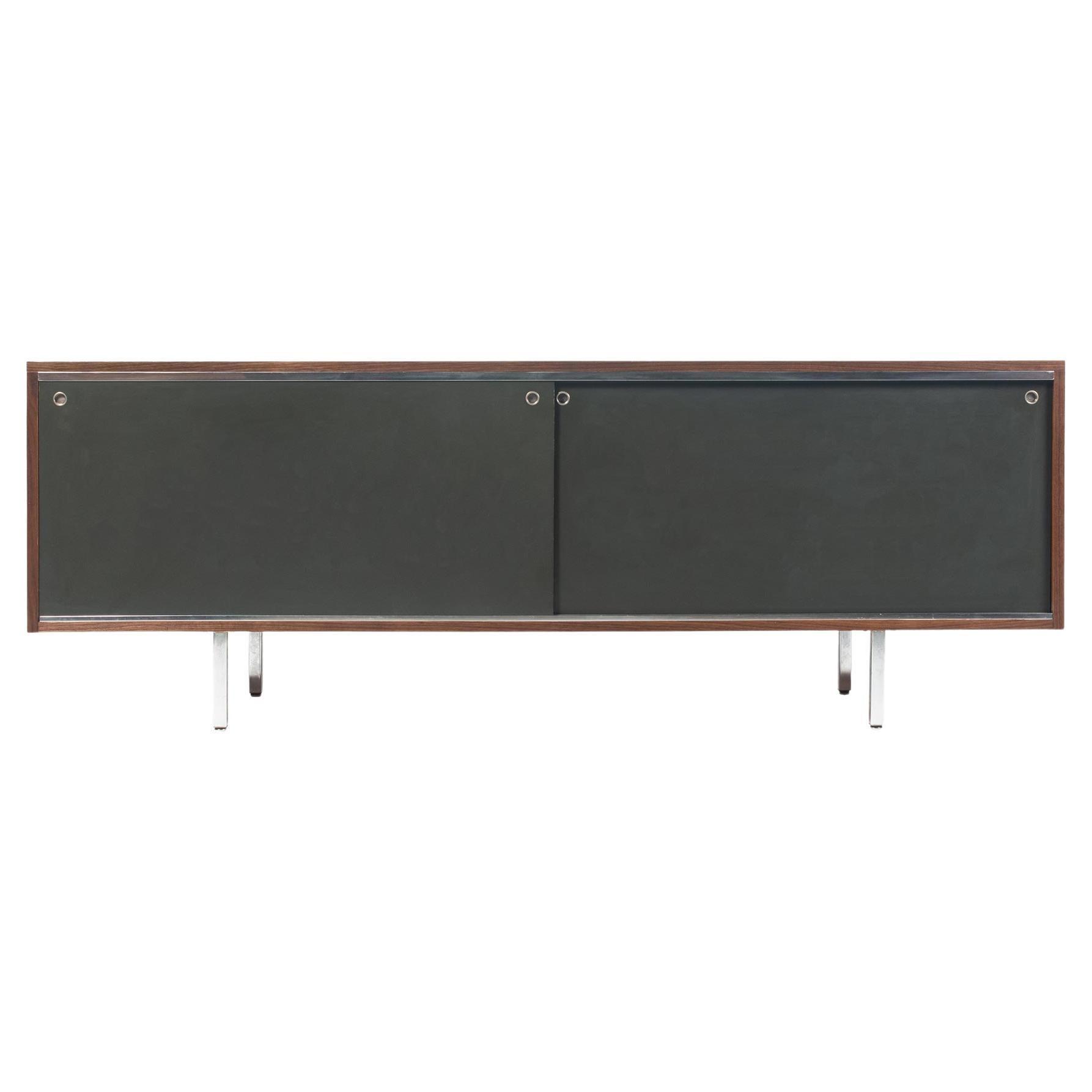 George Nelson EOG 8000 Series Sliding Door Cabinet in Walnut