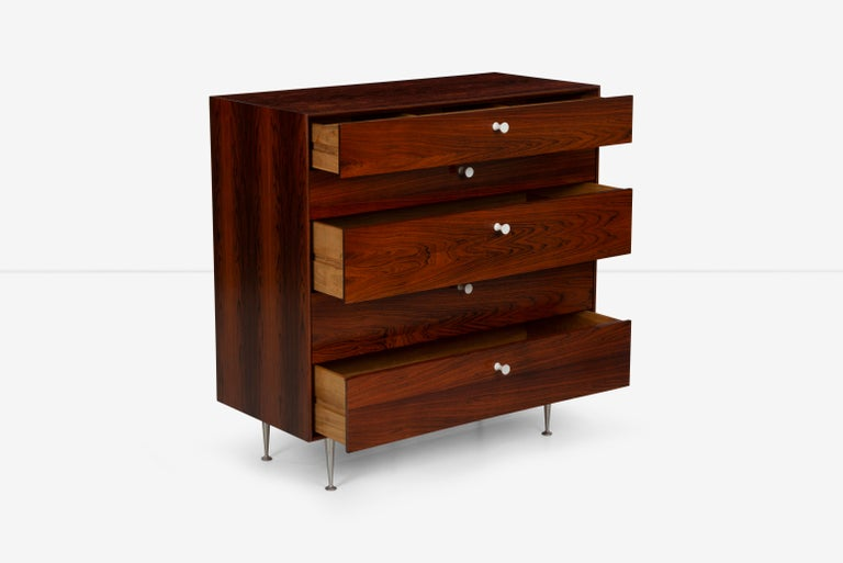 George Nelson Five-Drawer Thin Edge Rosewood Dresser For Sale 4