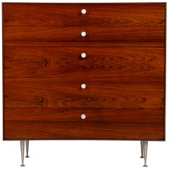 George Nelson Five-Drawer Thin Edge Rosewood Dresser