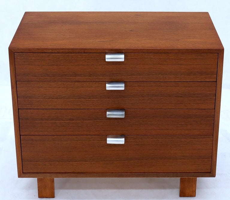 Lacquered George Nelson for Herman Miller 4 Drawers Walnut Dresser Bachelor Chest Cabinet For Sale